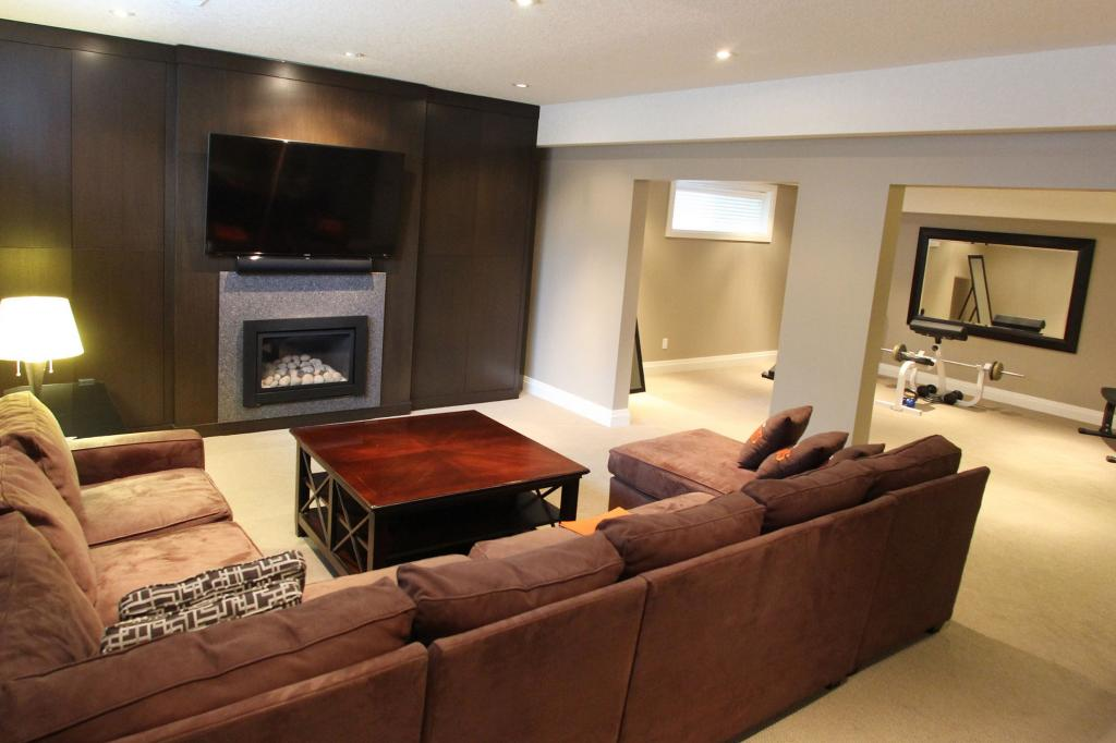 ... 2015 Basement Renovation With Fireplace In North Kitchener ...