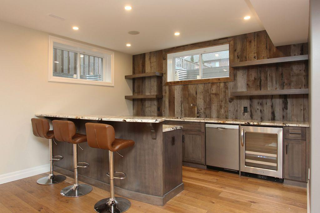 Wonderful ... Basement Renovation With Bar In Kitchener ...